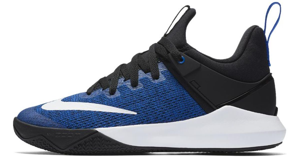 a6a9a0812973 ... top quality lyst nike zoom shift womens basketball shoe in blue 621c2  90cdf