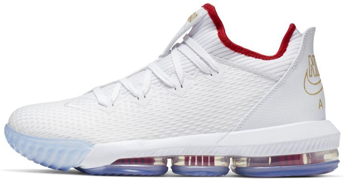 factory authentic e8ab1 5dae9 Nike White Lebron 16 Low Basketball Shoes for men