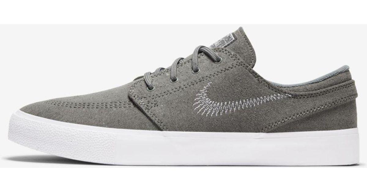 Nike Leather Sb Zoom Stefan Janoski Fl Rm Skate Shoe in Gray for ...