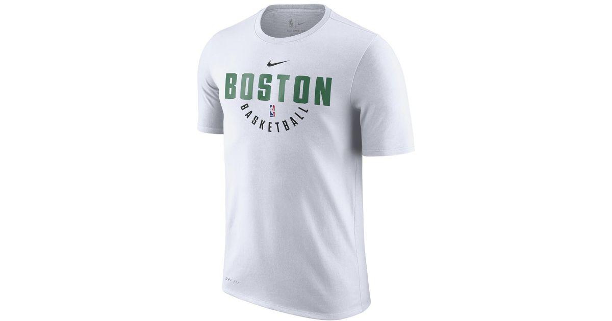 sports shoes 26e0a e4417 Nike White Boston Celtics Dry Men's Nba T-shirt for men