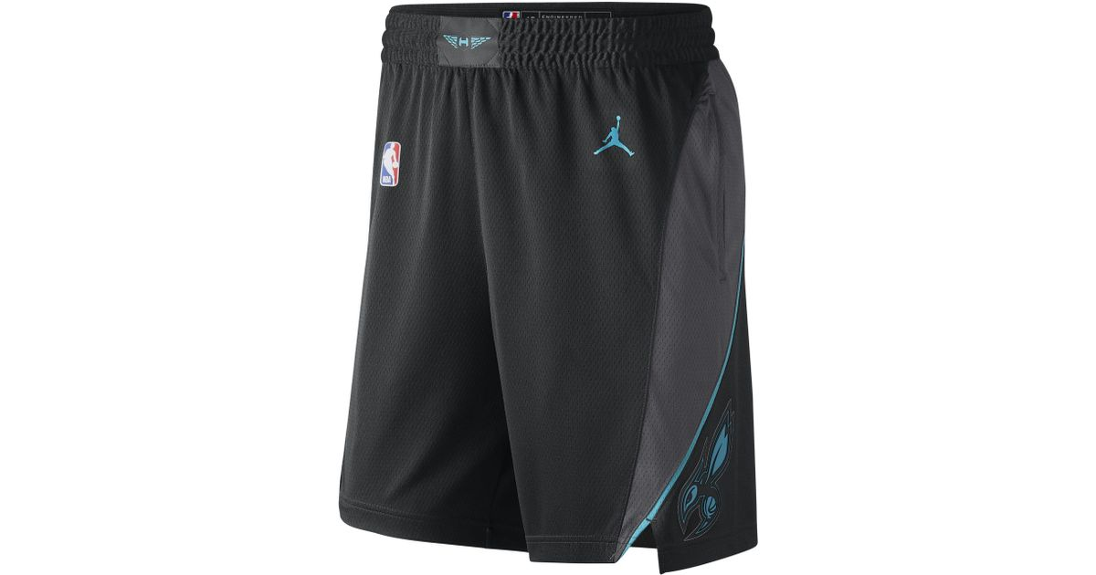 huge selection of 28830 a3000 Nike Black Charlotte Hornets City Edition Swingman Jordan Nba Shorts for men