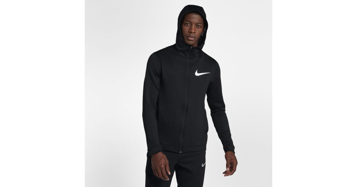 a04a0b903e8f Nike Therma Flex Showtime Full-zip Basketball Hoodie in Black for Men - Lyst
