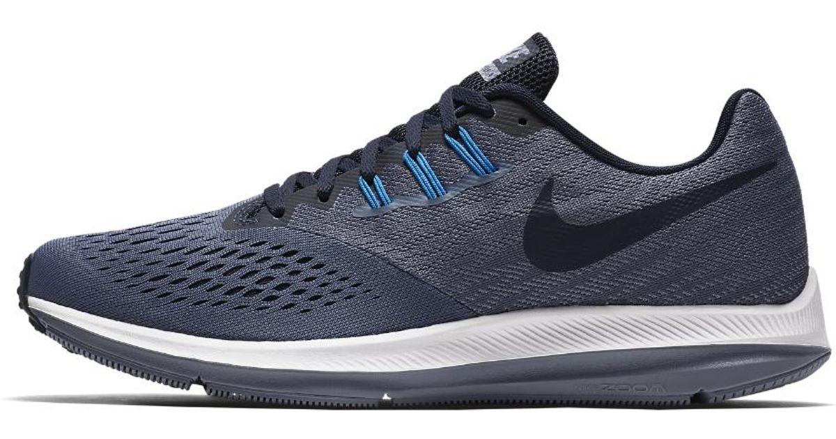 new styles 65ef8 2fdfc Nike Blue Zoom Winflo 4 Men's Running Shoe for men