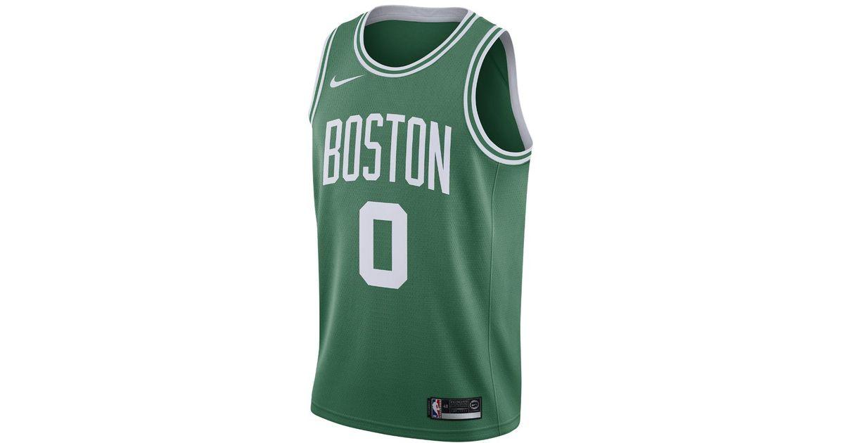 87039d065f5 Lyst - Nike Jayson Tatum Icon Edition Swingman Jersey (boston Celtics) Men s  Nba Connected Jersey in Green for Men