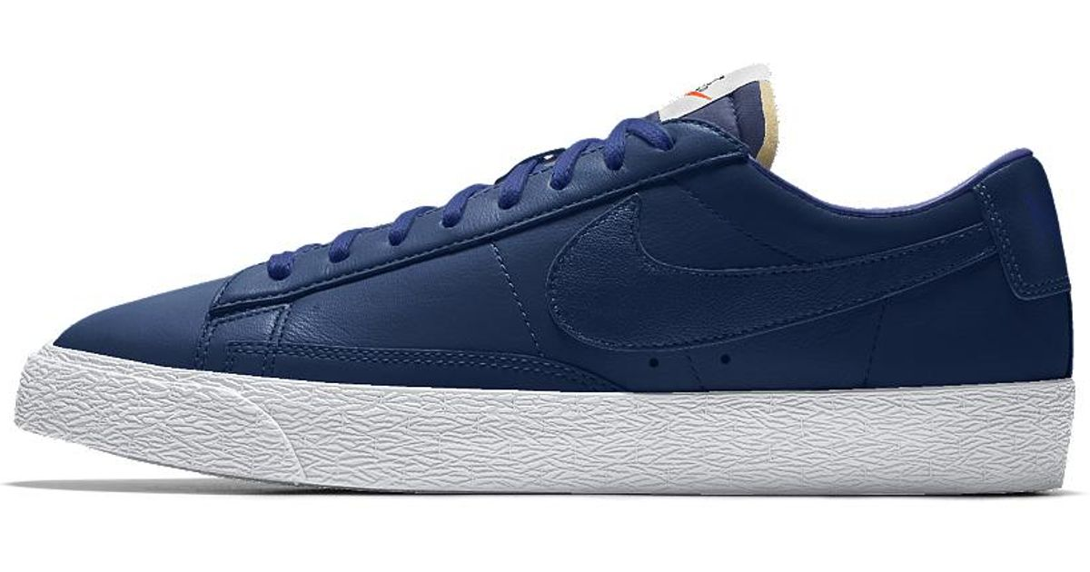 ... clearance lyst nike blazer low id mens shoe in blue for men 3ce77 10f24 f54a2c82b