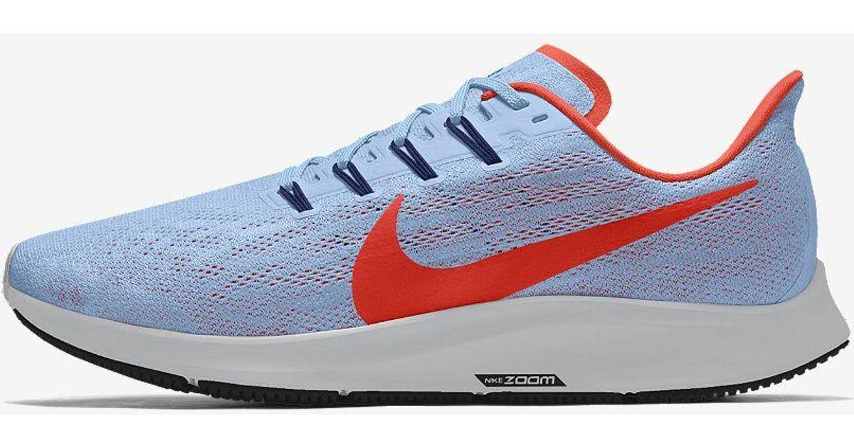 Nike Blue Air Zoom Pegasus 36 By You Custom Running Shoe Lyst
