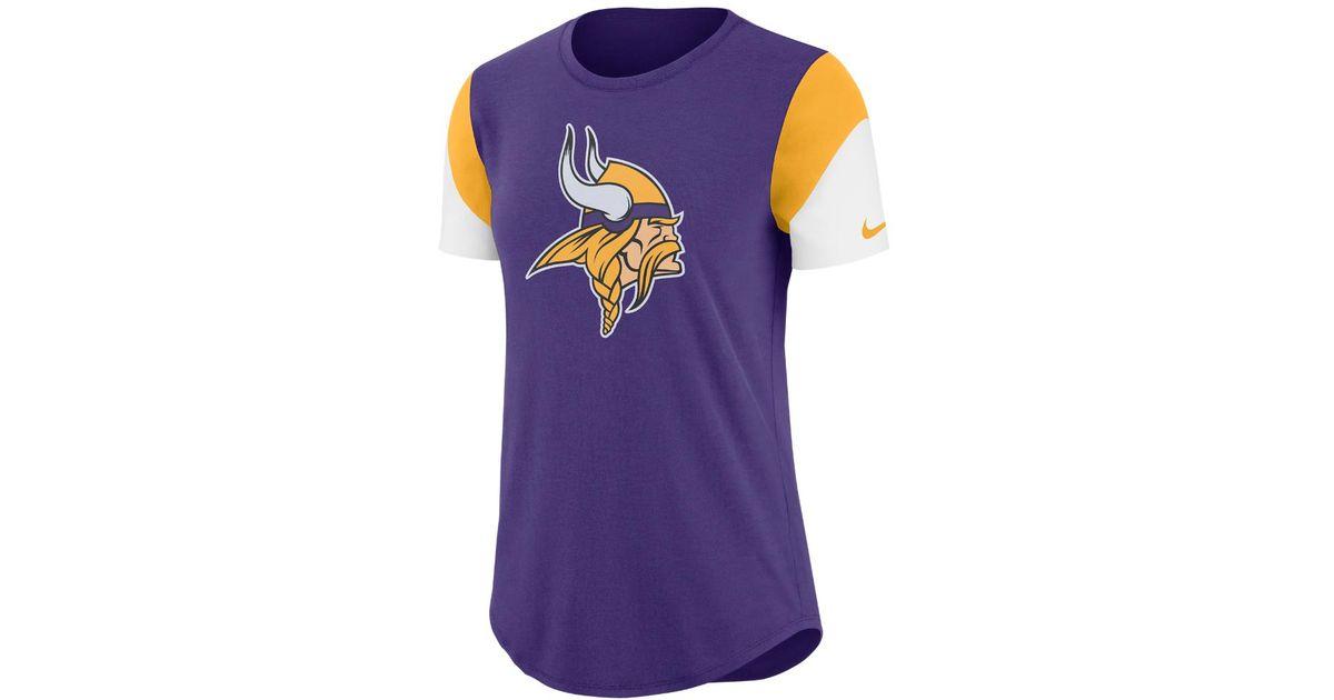 Lyst - Nike Team Fan (nfl Vikings) Women s Tri-blend T-shirt in Purple aea4d7cf5