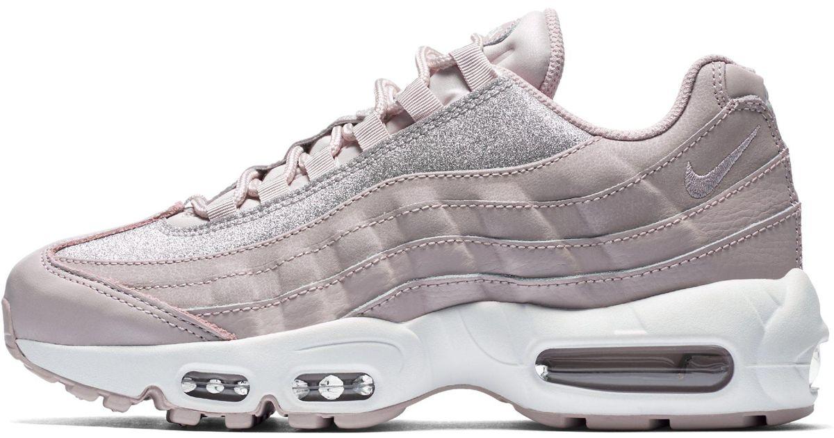 2a1dbea4d8 Nike Air Max 95 Se Glitter Shoe in Pink - Lyst