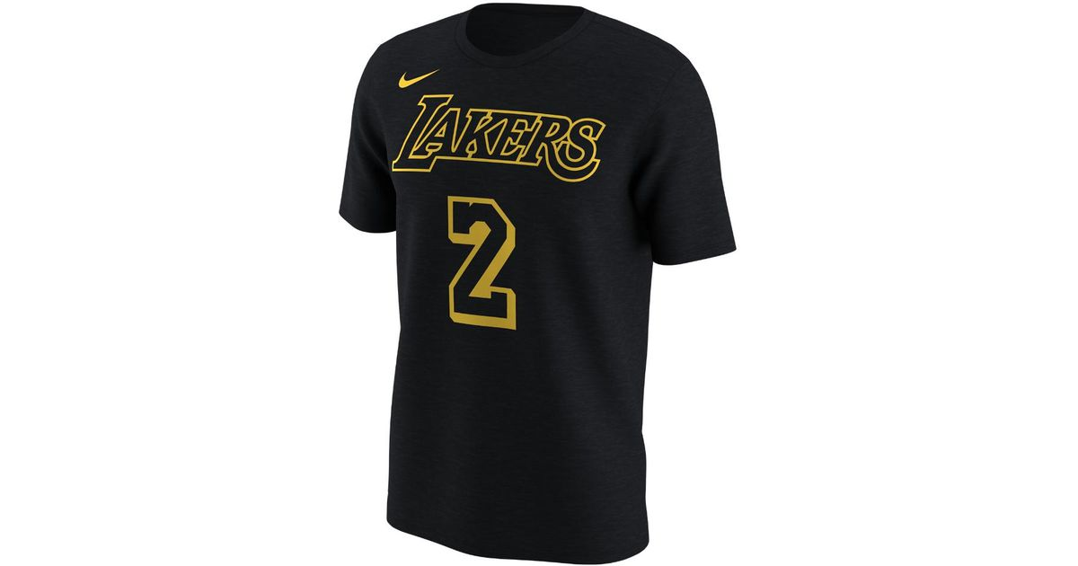 online store 29284 9581b Nike Black Los Angeles Lakers City Edition (lonzo Ball) Dri-fit Men's Nba  T-shirt for men