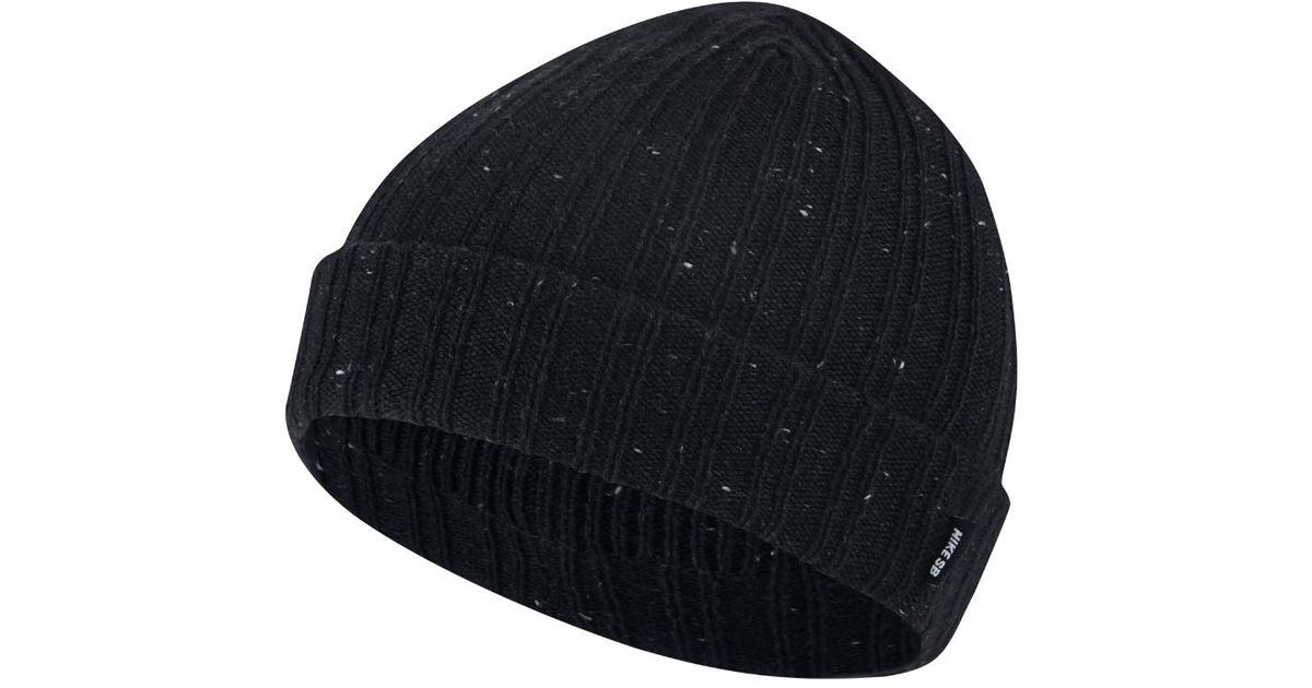 huge discount c9251 491fd Lyst - Nike Sb Surplus Beanie Knit Hat (black) in Black for Men