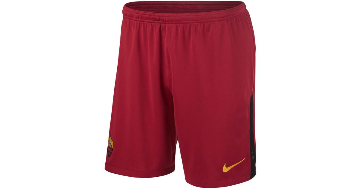 separation shoes df296 ee431 Nike 201718 A.s. Roma Stadium Homeaway Football Shorts in Red for Men -  Lyst