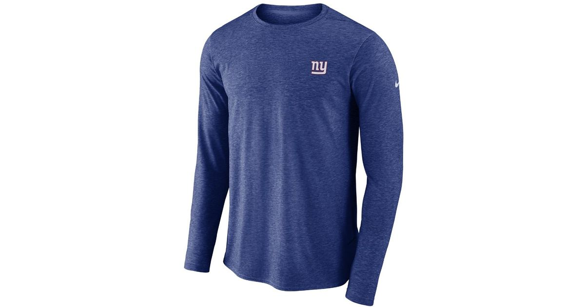 Lyst - Nike Dri-fit Coach (nfl Giants) Men s Long Sleeve Football Top in  Blue for Men ceaabec42