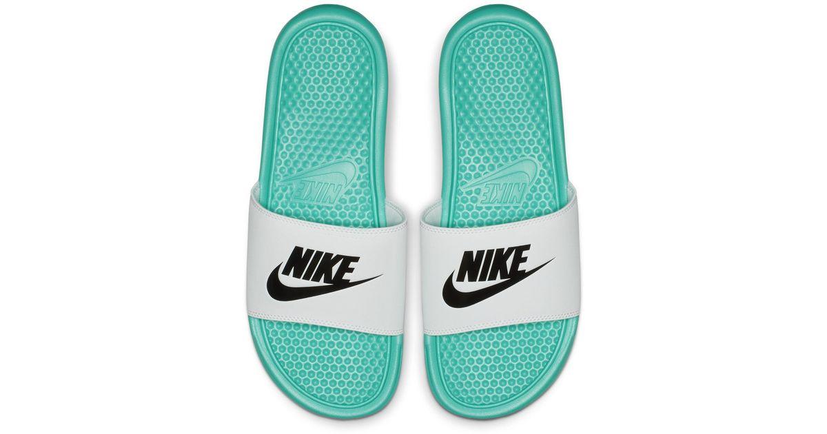 For Lyst Men Benassi Chanclas Nike Green eWBrCoxd