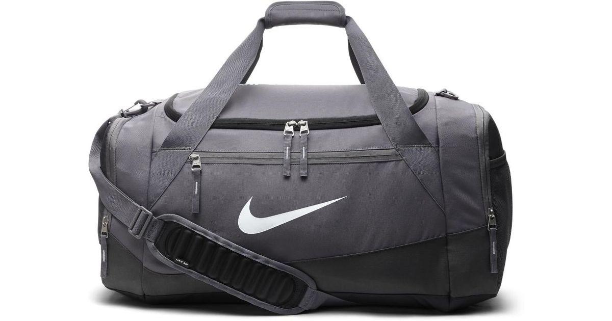 Nike Gray Hoops Elite Max Air Team Large Duffel Bag Grey For Men