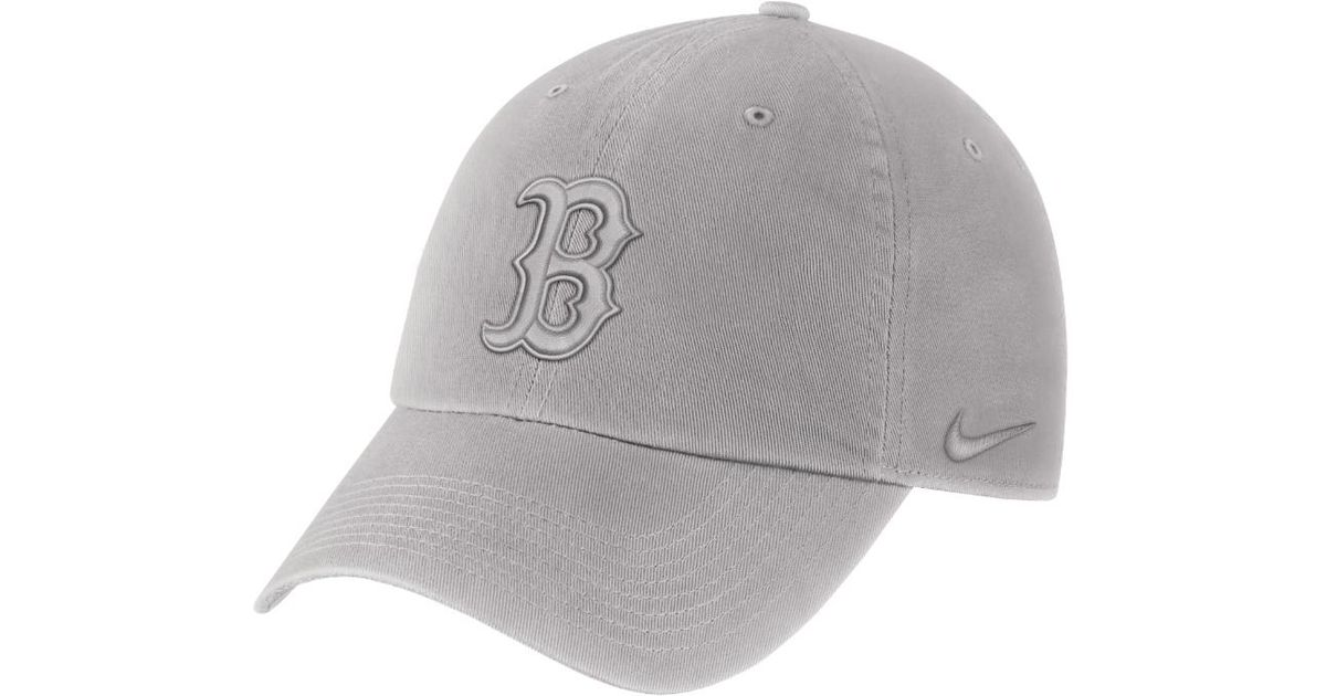 b1db7fb1be7 Lyst - Nike Heritage 86 (mlb Red Sox) Adjustable Hat (grey) in Gray for Men