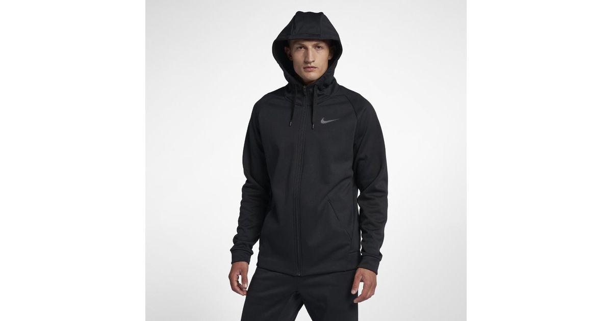 56b21f150f0c Lyst - Nike Dri-fit Therma Men s Full-zip Training Hoodie in Gray for Men
