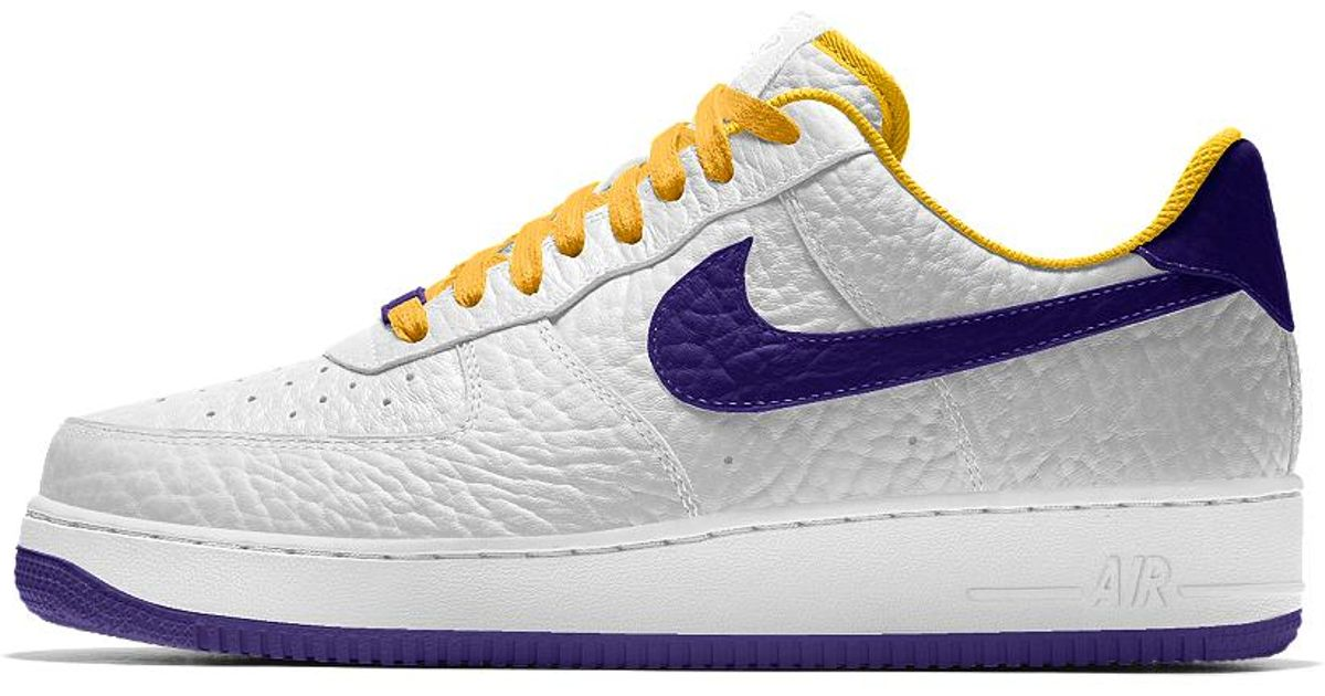 info for 02b91 7ef21 Nike Air Force 1 Low Premium Id (los Angeles Lakers) Men's Shoe in Blue for  Men - Lyst