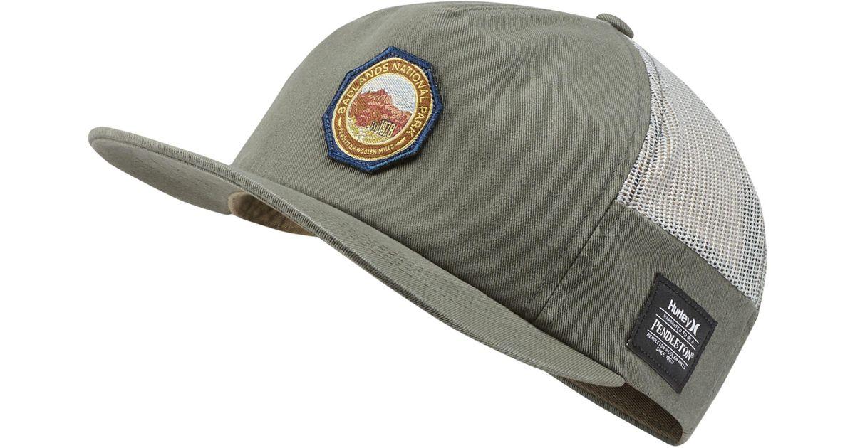 3b8cfbd2b Nike Green Hurley Pendleton Badlands Hat for men