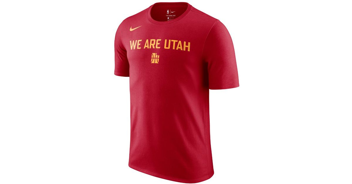 timeless design 830cb 6d102 Nike Red Utah Jazz City Edition Dry Men's Nba T-shirt for men