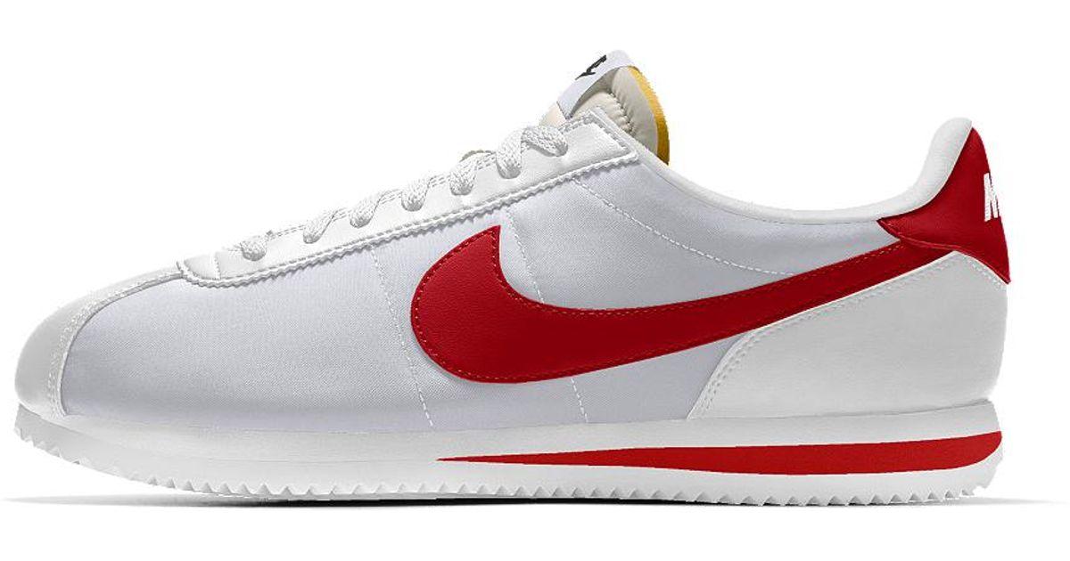 buy popular 107e7 5a82f Nike White Cortez Basic Id Men's Shoe for men