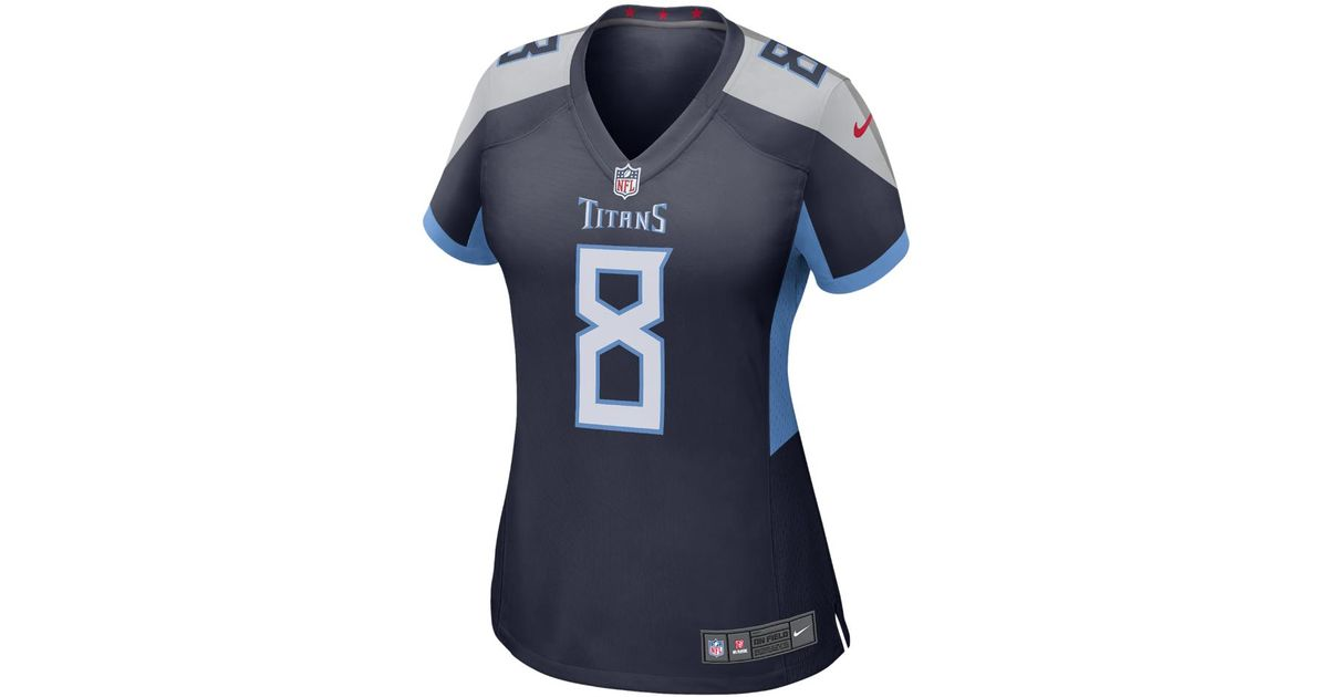 6a29667d349 ... netherlands lyst nike nfl tennessee titans color rush legend marcus  mariota womens football jersey in blue