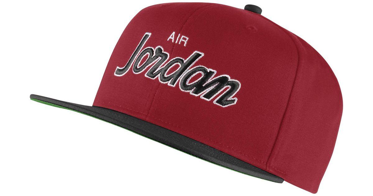 Nike Jordan Pro Script Cap in Red - Lyst 63db4307fa0f