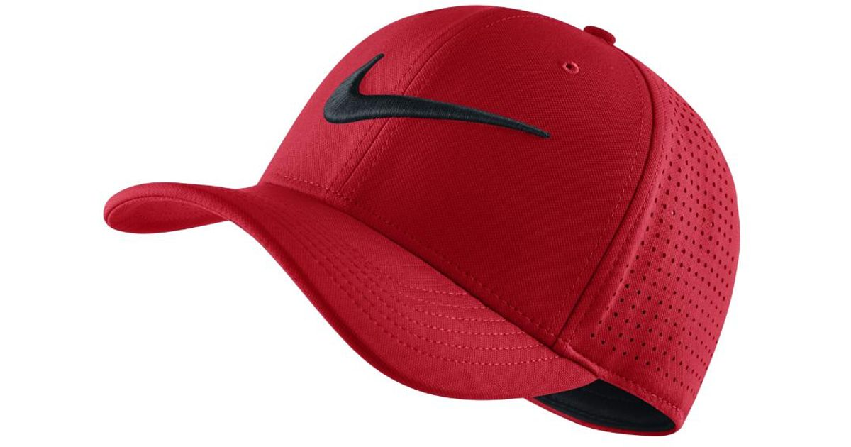 b2b8bcfdf8302 canada nike futura heritage 2.0 cap 78b96 7f500  amazon lyst nike vapor classic  99 sf fitted hat red clearance sale in red for men