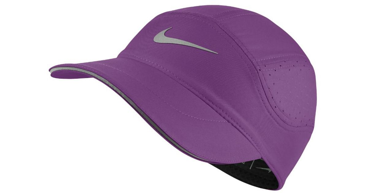Lyst - Nike Aerobill Women s Running Hat (purple) in Purple 5d414b16aa7