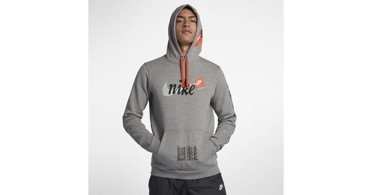 ec2e17f20 Nike Gray Sportswear Club Fleece Jdi Pullover Hoodie for men