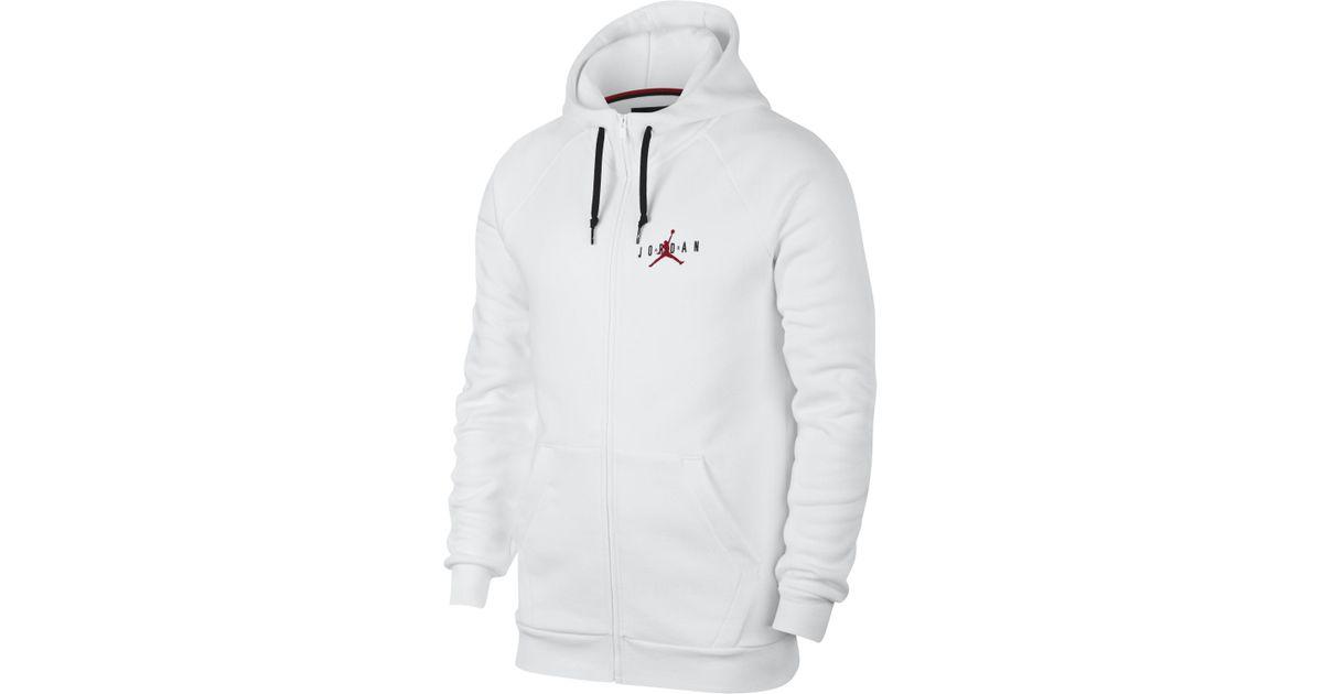 86cdcf8580600f Nike Jordan Sportswear Jumpman Air Full-zip Hoodie in White for Men - Lyst