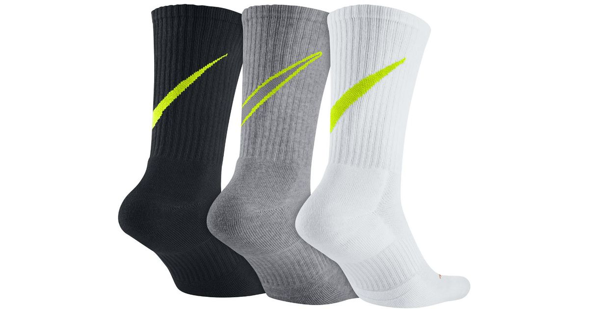 9076c113cf834 Nike Multicolor Swoosh Hbr Crew Socks (3 Pair) for men