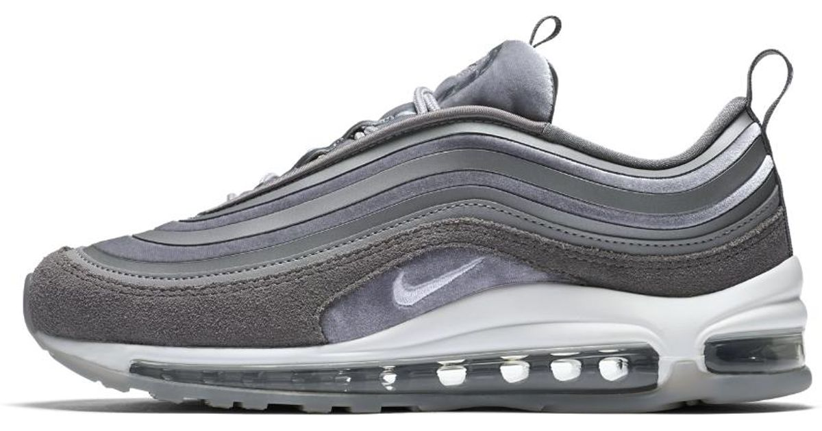 bf224b5a877e ... australia lyst nike air max 97 ultra 17 lx womens shoe in gray 4f4fa  dafd0