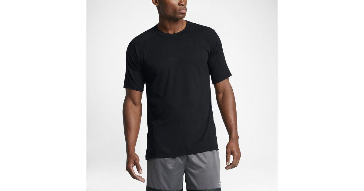 e8e3b6f1cbf Lyst - Jordan 23 Tech Se Men's Short Sleeve Training Top, By Nike in Black  for Men