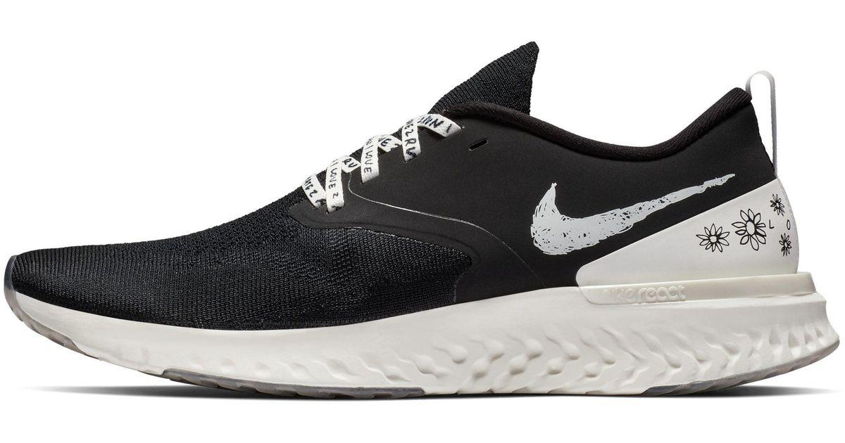 f37d43f48e391 Nike Black Odyssey React Flyknit 2 Nathan Bell Running Shoe for men