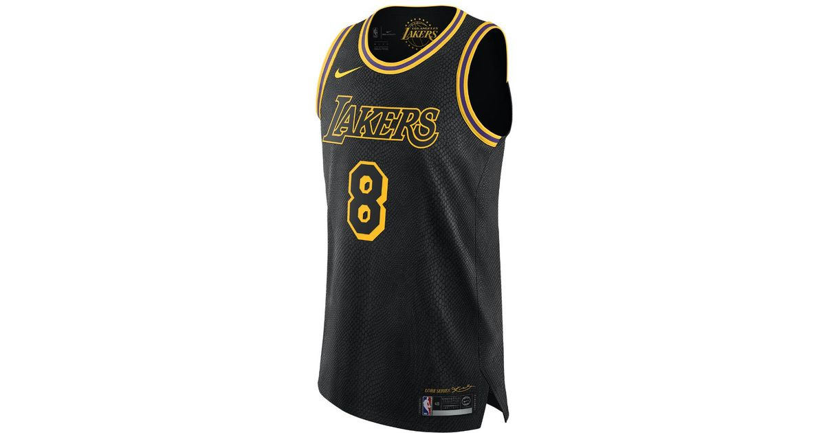 low priced fa65e 6fece Nike Black Kobe Bryant City Edition Authentic (los Angeles Lakers) Men's  Nba Connected Jersey for men