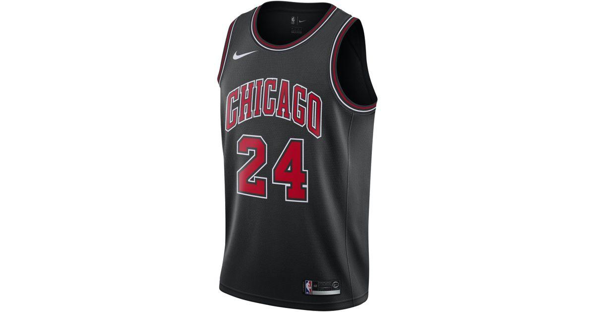 purchase cheap fa57a ba8d8 Nike Black Lauri Markkanen Chicago Bulls Statement Swingman Jersey for men