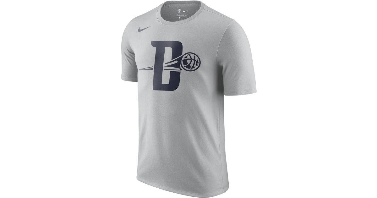 more photos 21379 e7afe Nike Gray Detroit Pistons City Edition Dry Men's Nba T-shirt for men