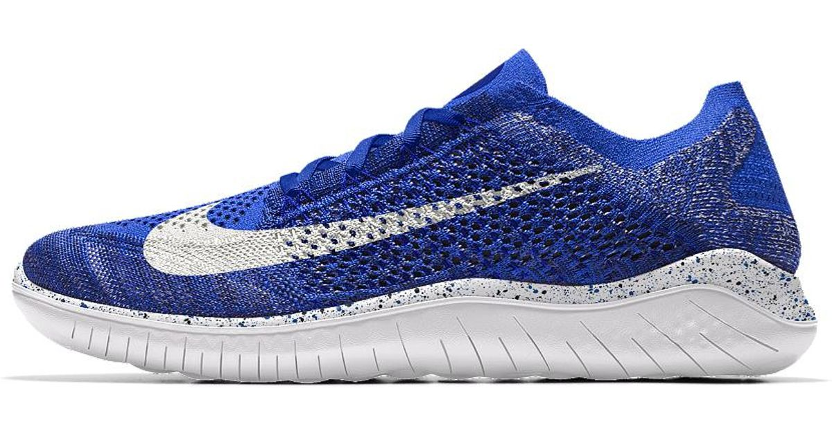 e1ed13979fda Lyst - Nike Free Rn Flyknit 2018 Id Men s Running Shoe in Blue for Men