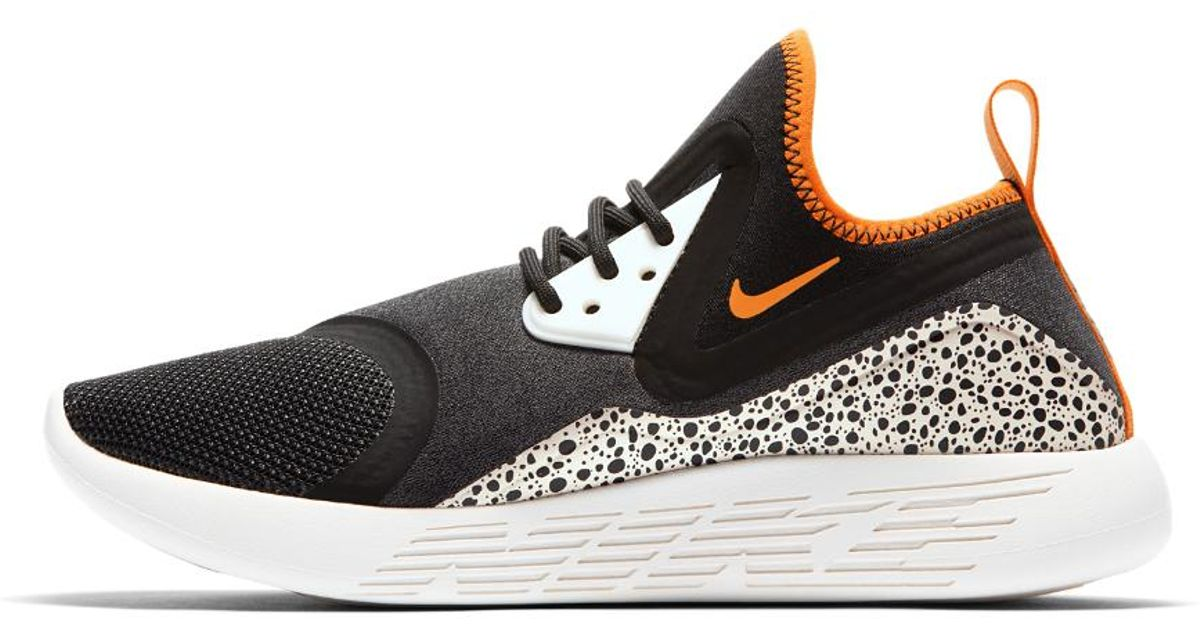 0476f934658f ... low price lyst nike lunarcharge essential bn womens shoe in black d32f8  c81a2