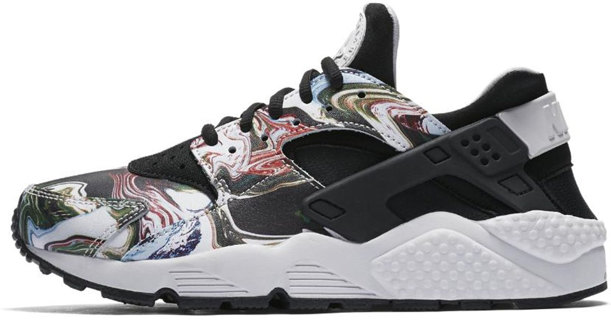 02dc06332fa Lyst - Nike Air Huarache Premium Marble Women s Shoe in Black