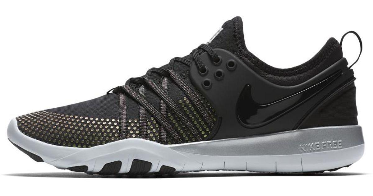 48c87ff5e635 Lyst - Nike Free Tr 7 Metallic Women s Training Shoe in Black