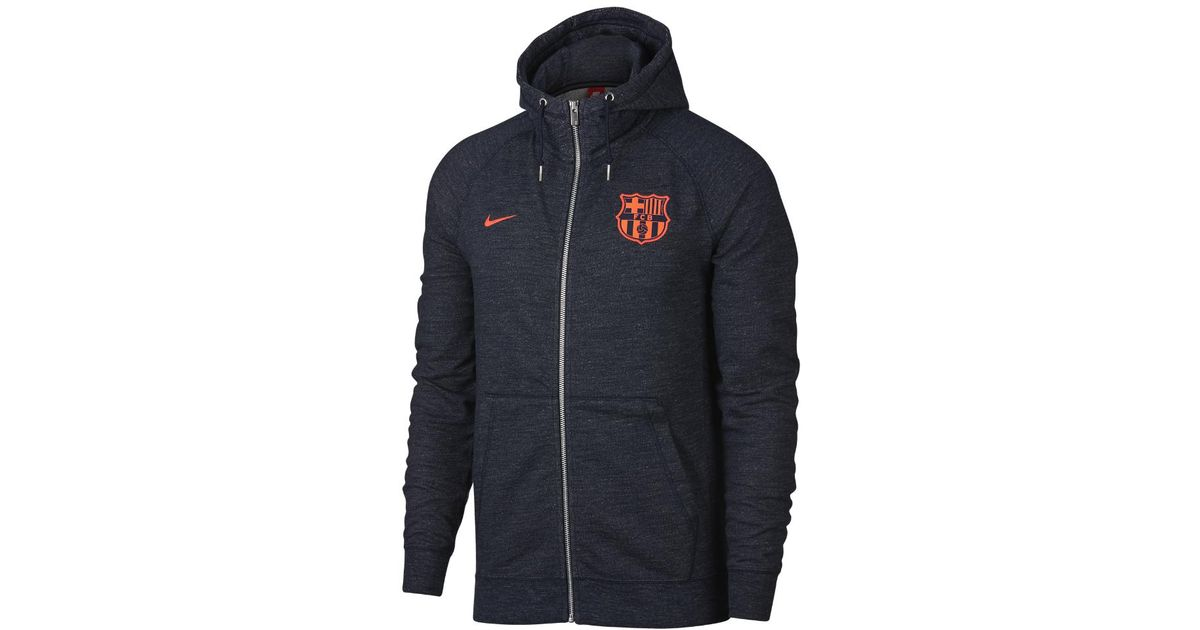 b038fd04273 Nike Fc Barcelona Men's Full-zip Hoodie in Blue for Men - Lyst