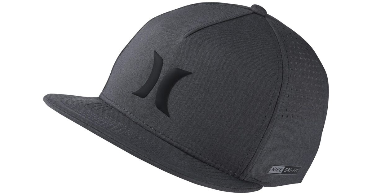 quality design b6c35 31b16 ... czech nike hurley dri fit icon adjustable hat in black for men lyst  949fe c757a