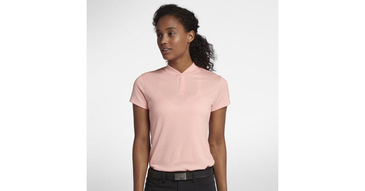 f035df96 Nike Dri-fit Women's Golf Polo Shirt in Pink - Lyst