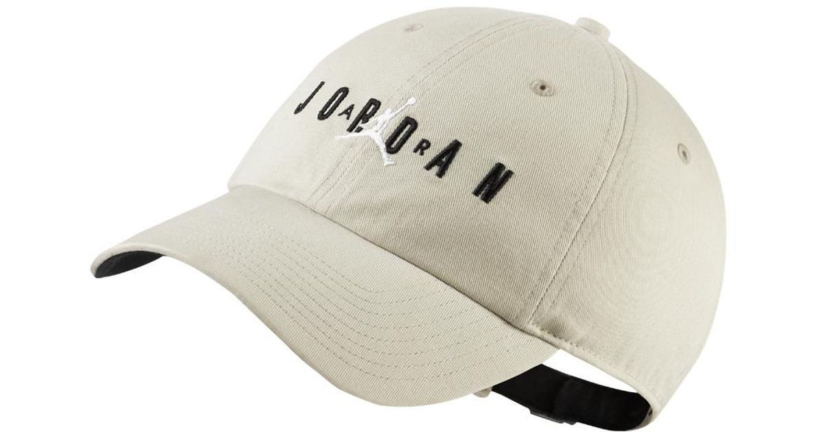 2fb5afe2d71a0 ... switzerland lyst nike heritage 86 jumpman air adjustable hat by nike  cream in natural for men