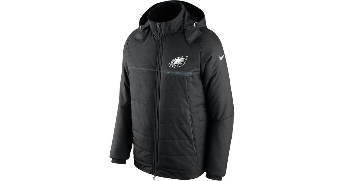 4696d77d7051 Lyst - Nike Sideline (nfl Eagles) Men s Jacket in Black for Men