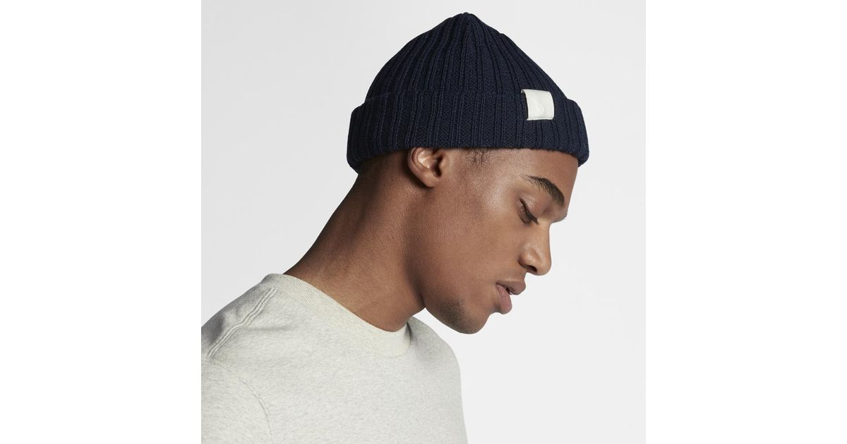 9de82087591 Nike - Essentials Beanie Knit Hat (blue) for Men - Lyst