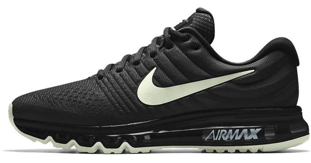 innovative design bb3fd 2c9cc Lyst - Nike Air Max 2017 Id Women s Running Shoe in Black