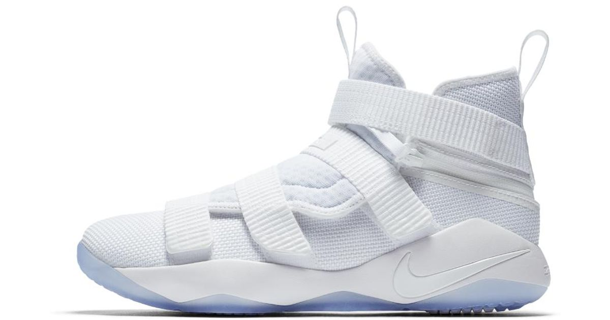 6cec9cc100c ... denmark lyst nike lebron soldier xi flyease basketball shoe in white  for men 73a2e 09ced