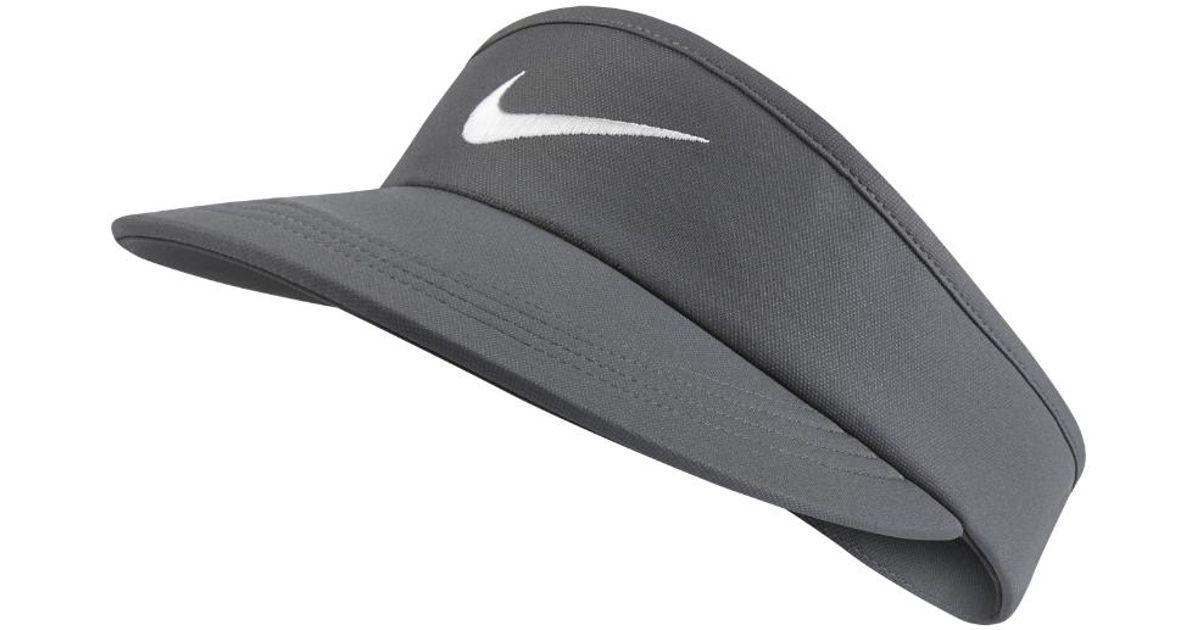 a8db0fb93813 Lyst - Nike Tall Adjustable Golf Visor (grey) in Gray